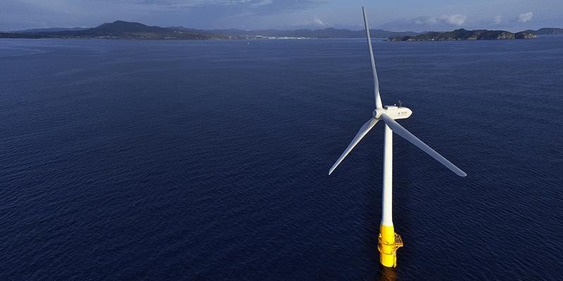 浮体式洋上風力発電設備を実用化